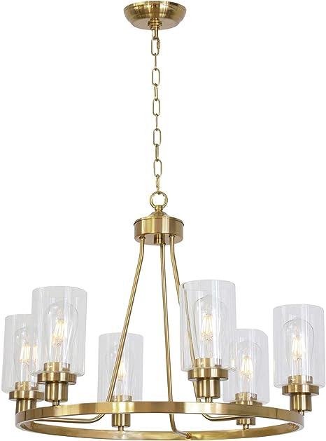Progress Lighting Americana Polished Brass Chandelier w// 6 Light 60W NEW