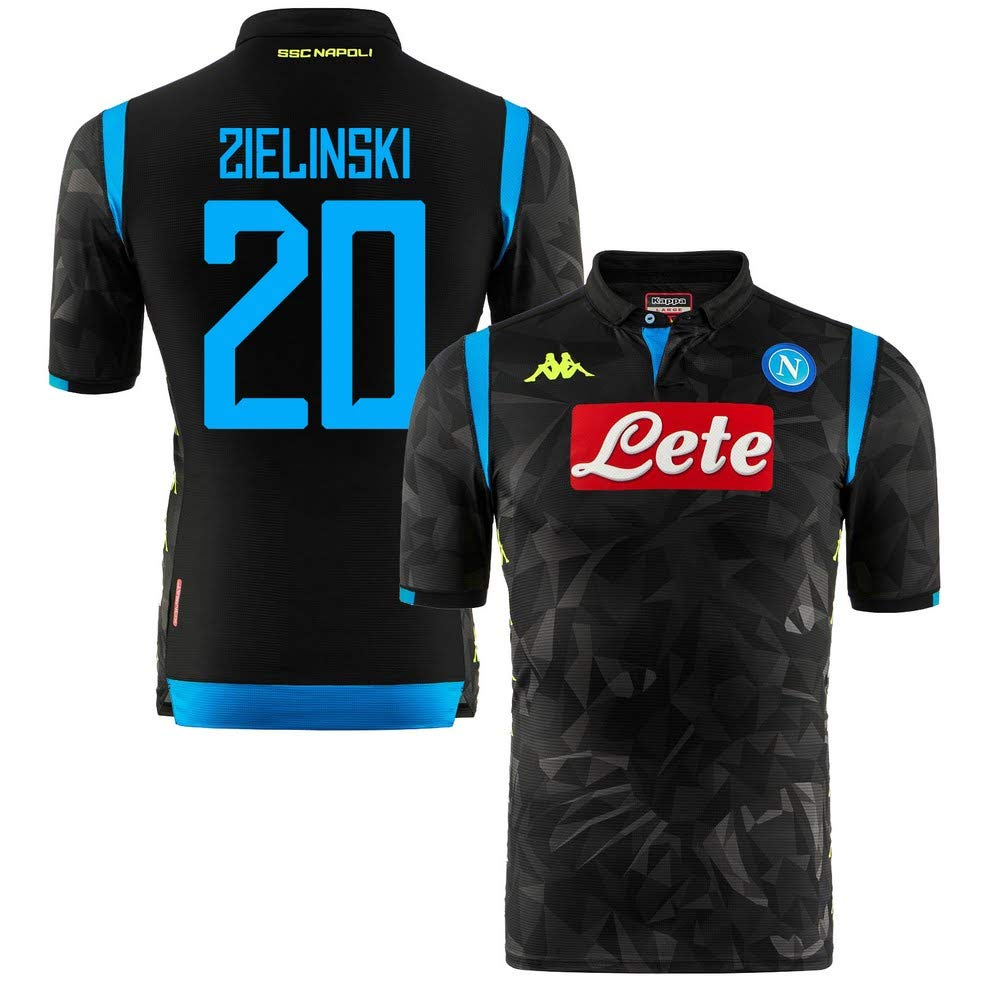 Neapel Away Champions League Match Trikot 2018 2019 + Zielinski 20 (Fan Style)