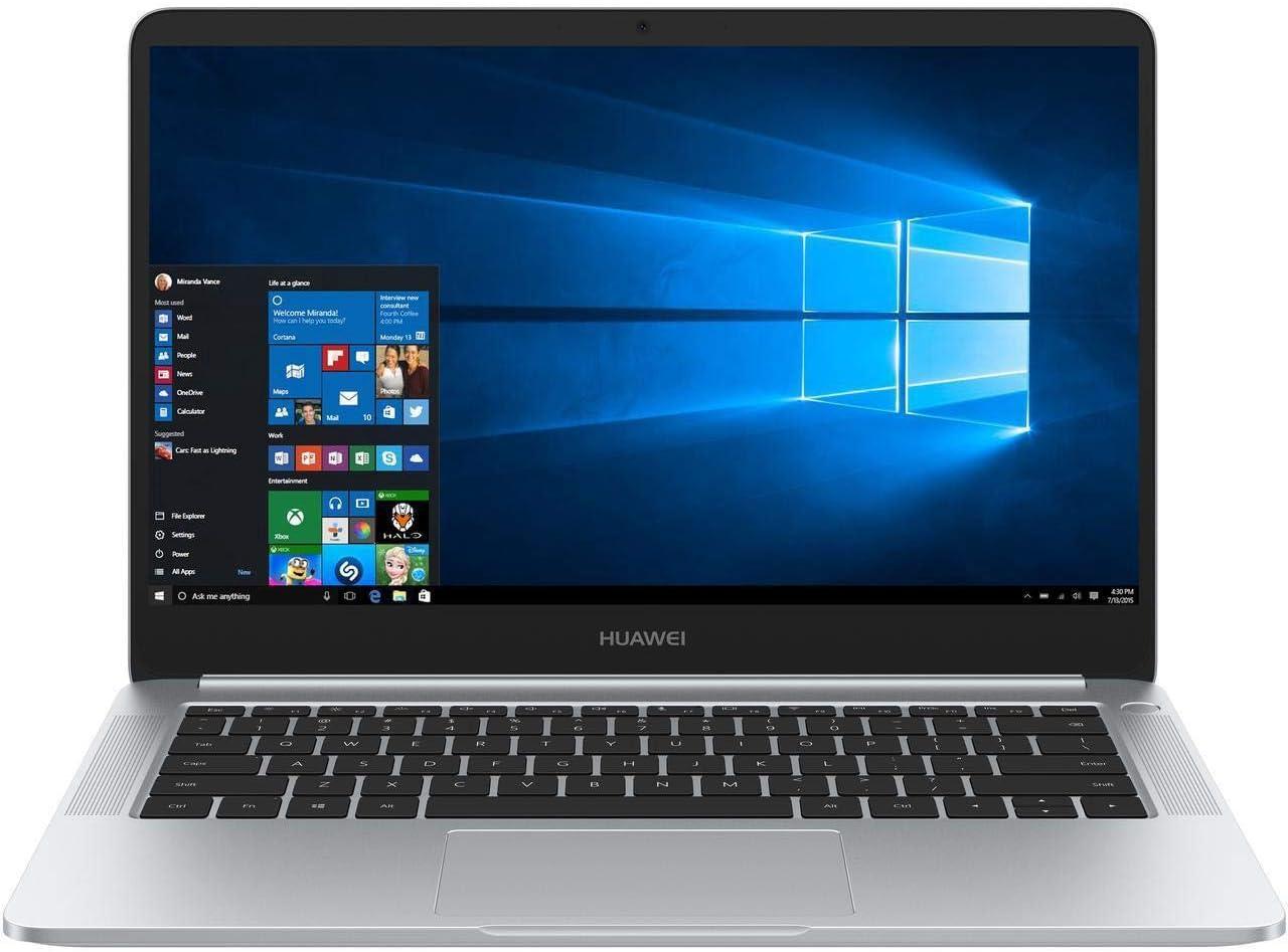 "Huawei MateBook D 14"" FHD IPS Touchscreen, Quad-Core AMD Ryzen 5 2500U 2.00 GHz, 8GB DDR4 RAM, 256GB NVMe SSD, AMD Radeon RX Vega 8, AC WiFi, BT 4.1, USB C, HDMI, Windows 10 Pro Gaming Laptop"