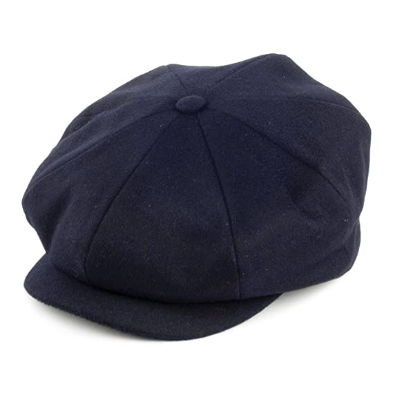 Village Hats City Sport Loden Wool Newsboy Cap - Navy SMALL  Amazon ... 745daaa0880