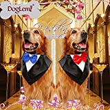 DogLemi Dogs Bowtie Tuxedo Neckwear Holloween Scarf Pet Dress-up Costumes Cosplay Accessories