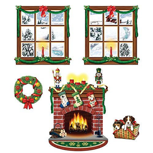 Beistle Indoor Christmas Backdrop Party Supplies Christmas Decoration & -