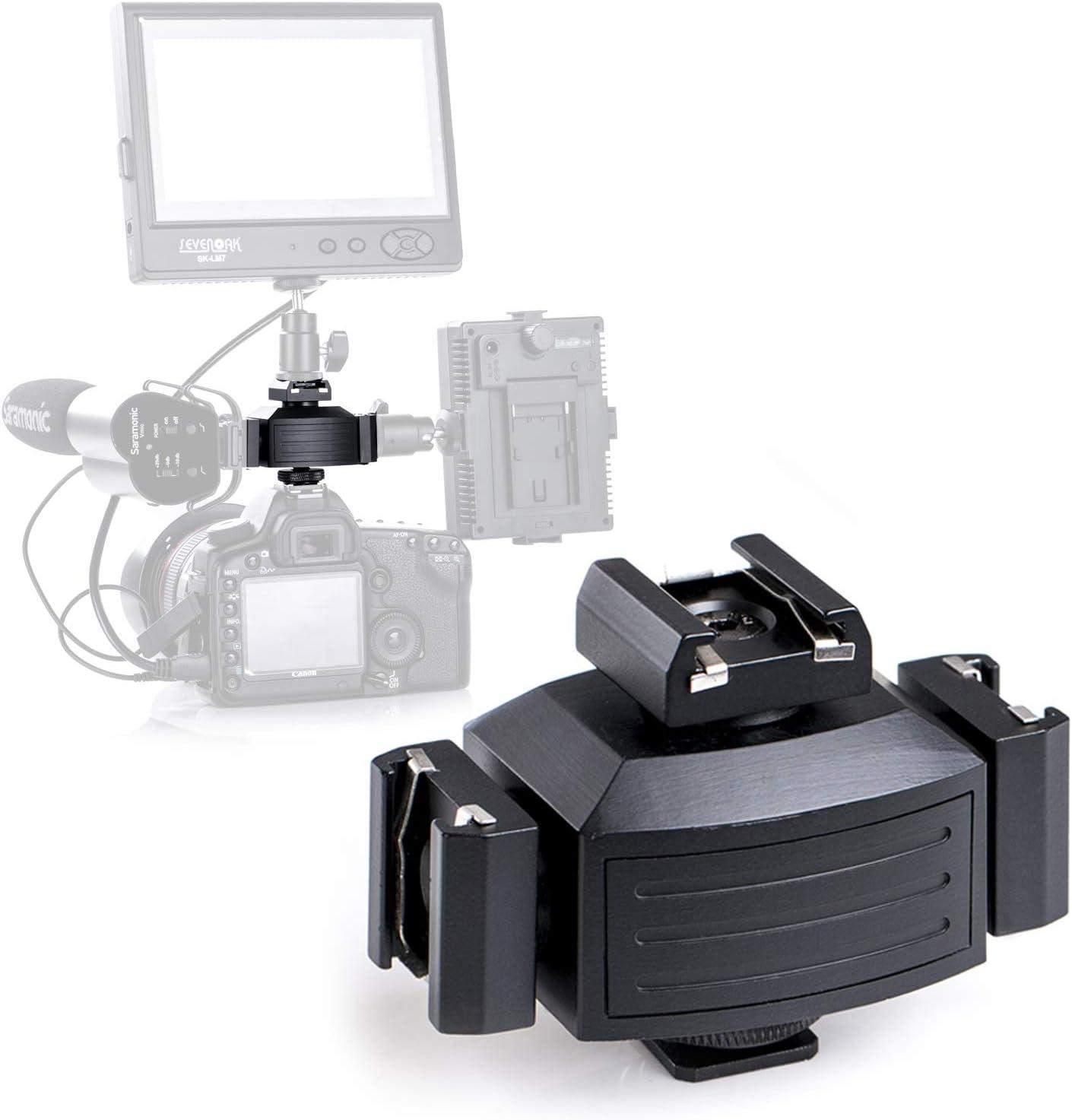 Micnova MQ-THA tripartita Coldshoe adaptador de montaje para Canon ...