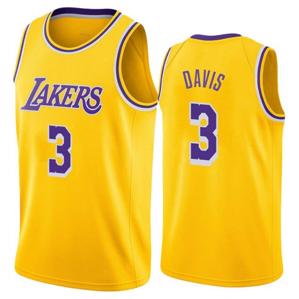 Los Angeles Lakers #3 Anthony Davis Jersey Basketball Uniform Trikot Atmungsaktiv Basketball Weste Komfortable Schnelltrocknend f/ür Basketballfans