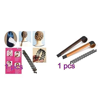 Hilai 2 moldes para hacer lazos de pelo (marrón/rubio) + 1 herramienta