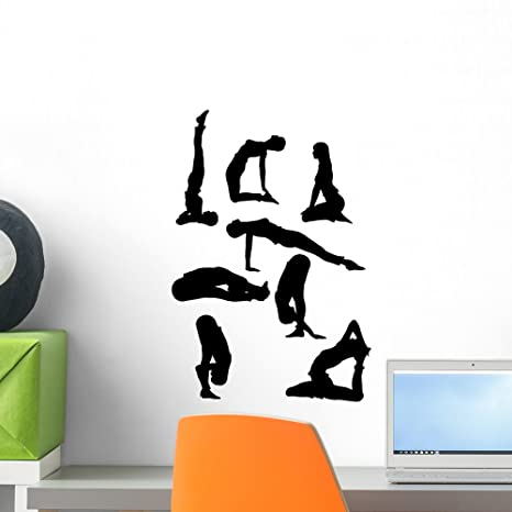 Amazon.com: Wallmonkeys posturas de yoga flores pared ...