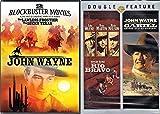 Gunfighting John Wayne Films Classic Western Rio Bravo & Cahill US Marshal + Lucky Texan & Lawless Frontier Feature DVD 4 Movie bundle