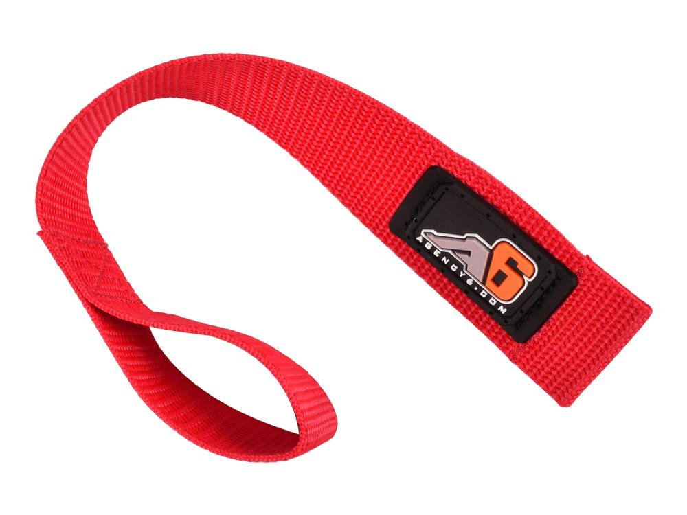 Made in The U.S.A. Heavy Duty RED 1.5 INCH Wide Agency 6 Winch Hook Pull Strap