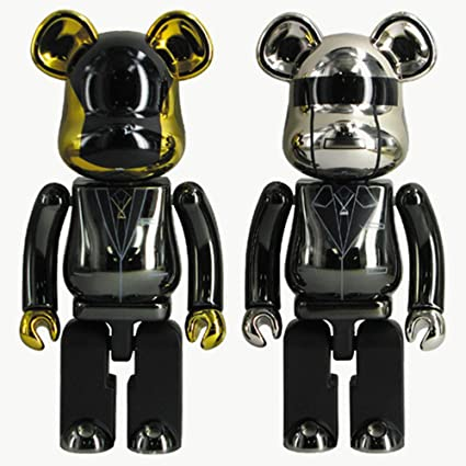 628c1368 Image Unavailable. Image not available for. Color: KINKIROBOT 200% BEARBRICK  DAFT PUNK SET (RAM VER)