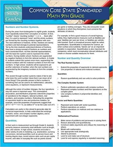Common Core State Standards: Math 9th Grade (Speedy Study
