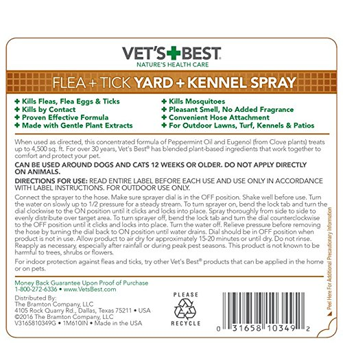 Vet's Best Flea and Tick Yard and Kennel Spray, 32 oz, USA Made by Vet's Best (Image #2)