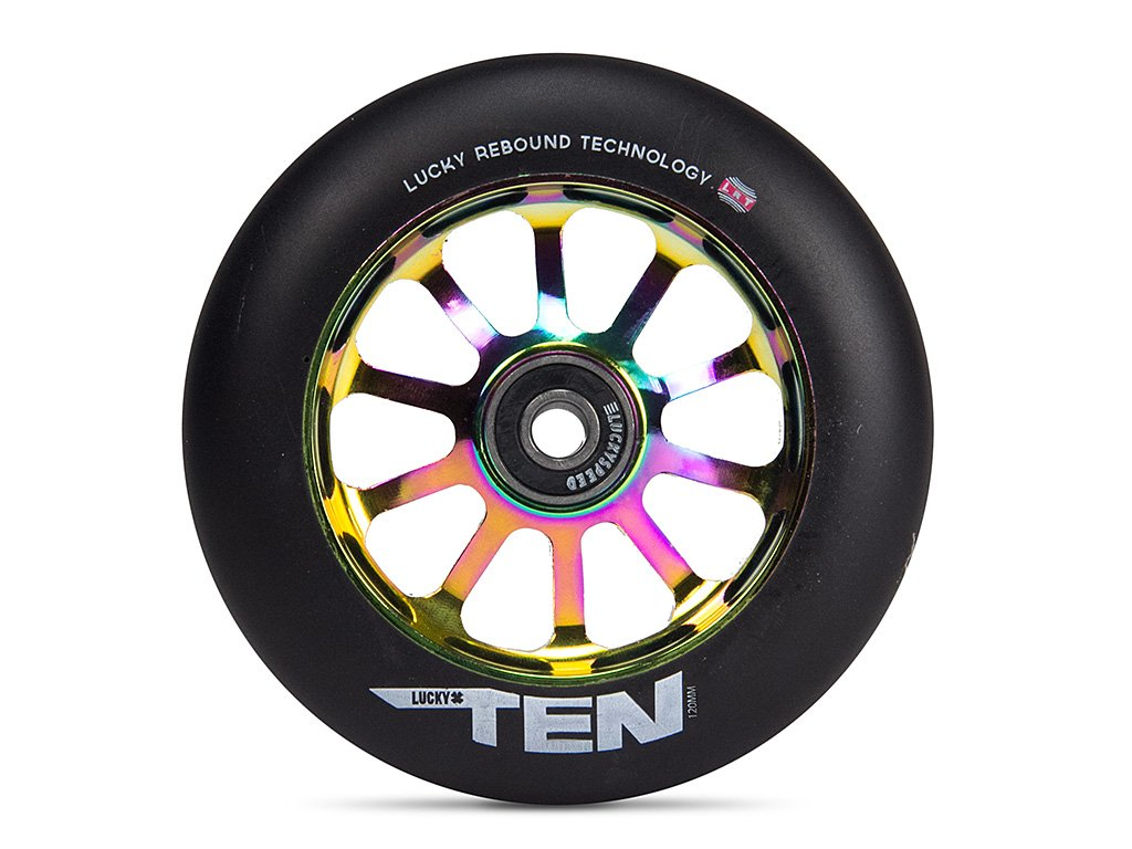 LUCKY Rueda Completa Patinete Ten 120mm (120mm - Neochrome ...