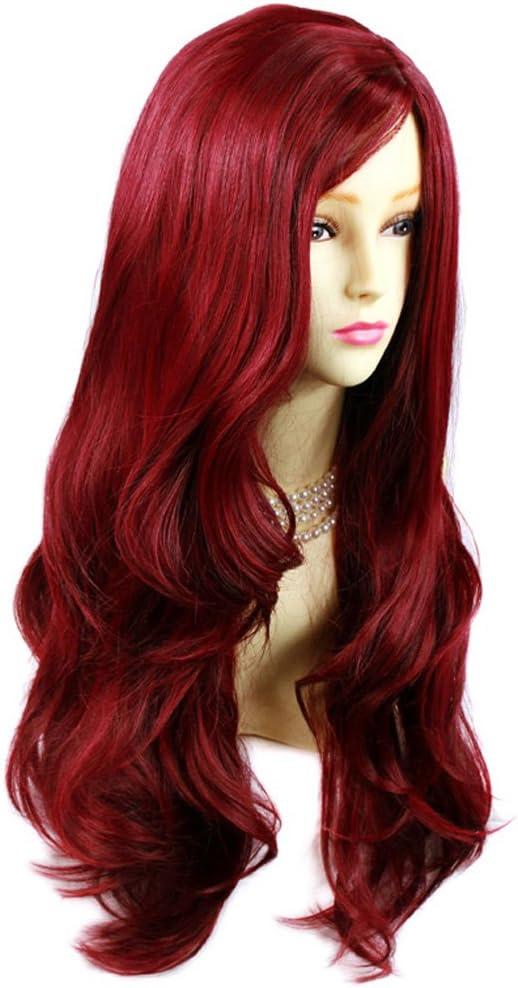 Sexy Fabulous capas de largo ondulado peluca Burdeos mezcla rojo ...