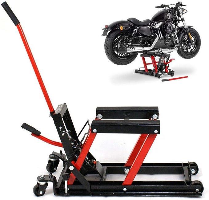 Küchenks Jack hidráulico de Tijera para Motocicleta Mini Elevador Gato hidráulico para Motocicleta MAX. Elevador de Motocicleta de 680 kg.: Amazon.es: Hogar