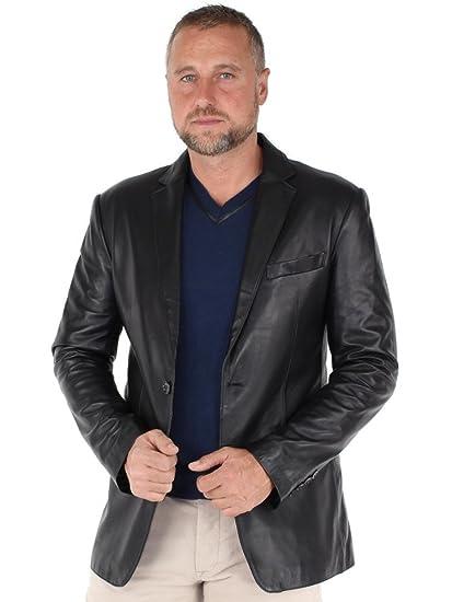Giovanni Et Noir gvi37175 Cuir Blazer Ref En Vêtements rPwqUP7a8x