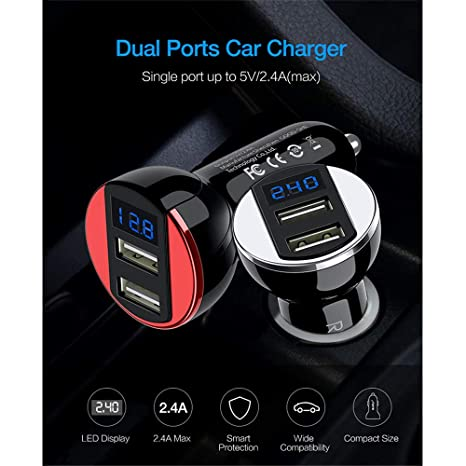 Amazon com: YAOkxin Car Fast Charger LED Display 5v2a GPS