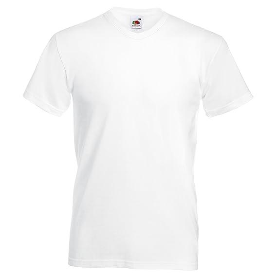 Fruit Of The Loom - Camiseta Básica de pico de manga corta de calidad superior para hombre: Amazon.es: Ropa y accesorios