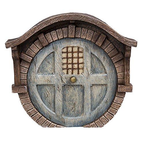 - Pacific Giftware Miniature Fairy Garden of Enchantment Fairy Gnome Hobbit Brick House Door 4 Inches