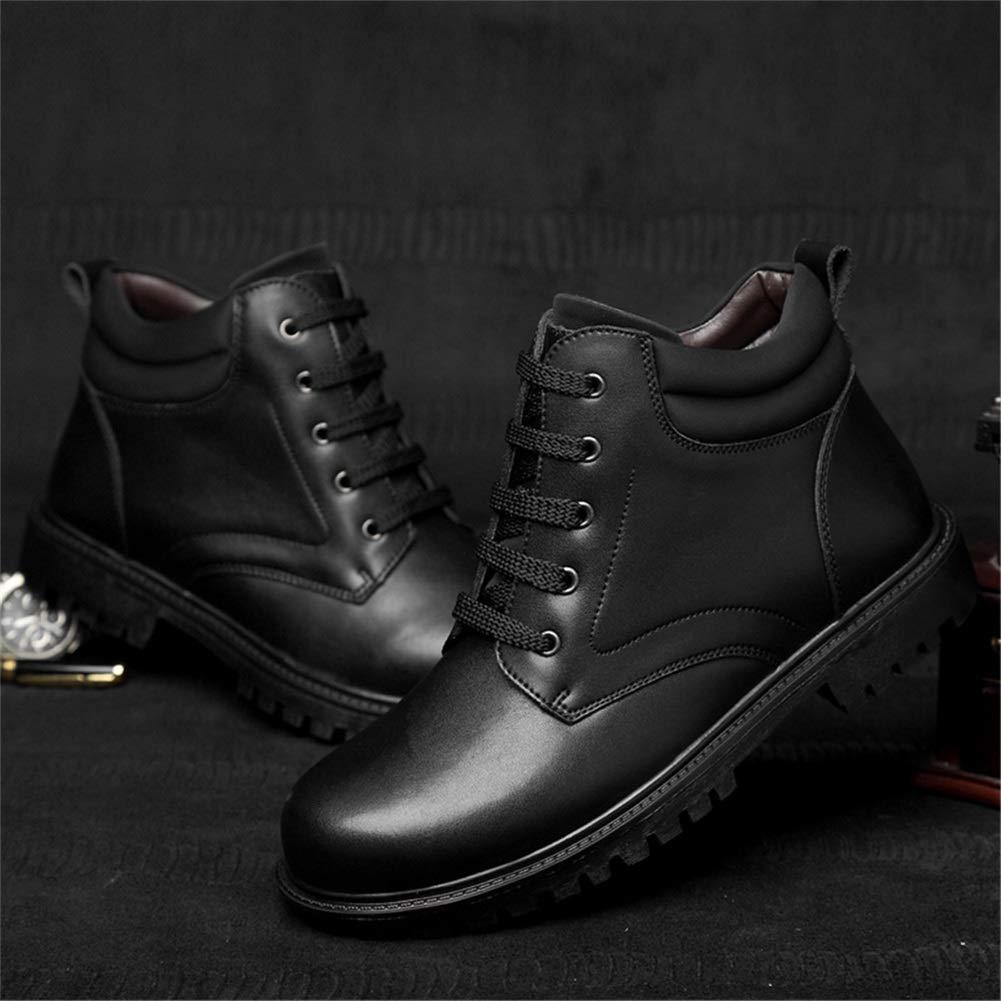 Botte en cuir pour hommes, chaussure de randonnée à lacets