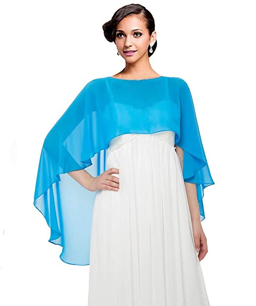 Wedding Capes Women s Bridal Soft Chiffon Shawl Long Evening Wraps For  Special Occasion  Amazon.co.uk  Clothing f9ce8aed3c9c