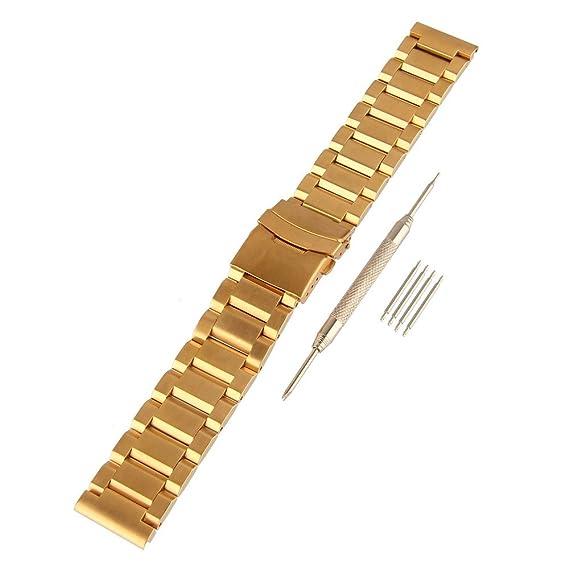 Beauty7 Kits de 18 mm Correas 5 Cepas de Acero Inoxidable ...