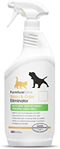 Furniture Clinic Stain & Odor Eliminator | Urine Remover for Dogs, Cats, Pets & and Human Urine Removal | Enzyme Activated Urine Spray | Get Urine Off Carpets, Mattresses and Other Surfaces