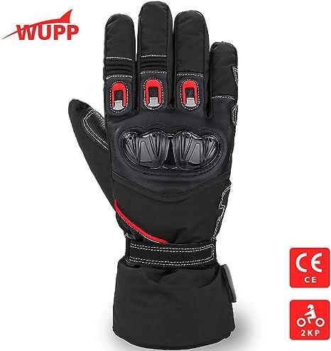 L,Schwarz Motorrad Handschuhe winter Motorradhandschuhe Touchscreen Handschuhe Wasserdicht Winddicht Sporthandschuhe Warm Handschuhe