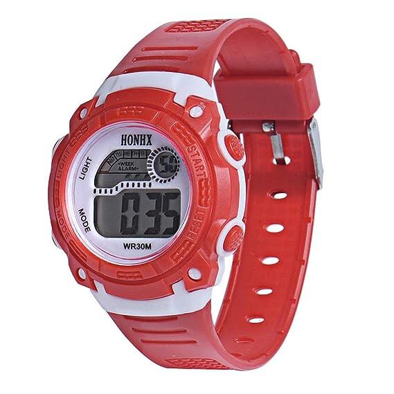 BEIBEILE Relojes para Niños Relojes para Niños Reloj Digital De Colores Reloj Relojes Electrónicos De Moda para Niños Niños Reloj para Hombres: Amazon.es: ...