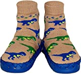 Konfetti Dinosaur Dash Slipper Sock Swedish Moccasin