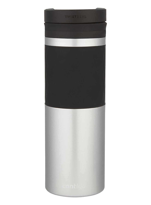 Contigo THERMALOCK TwistSeal Glaze Stainless Steel Travel Mug with Ceramic, 16 oz, Silver 2001707
