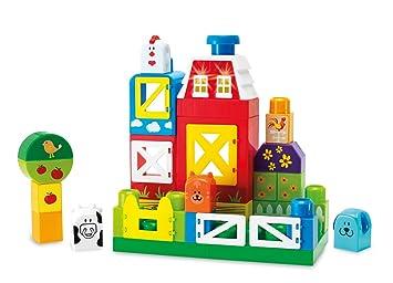 61 Teile Bauernhof Holzspielzeug Set Viele Plastik-Tiere