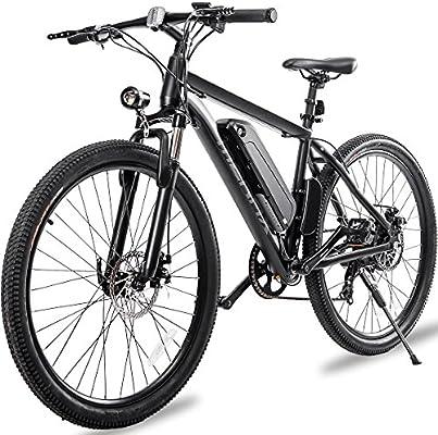 Amazon.com: Merax - Bicicleta eléctrica de montaña de ...