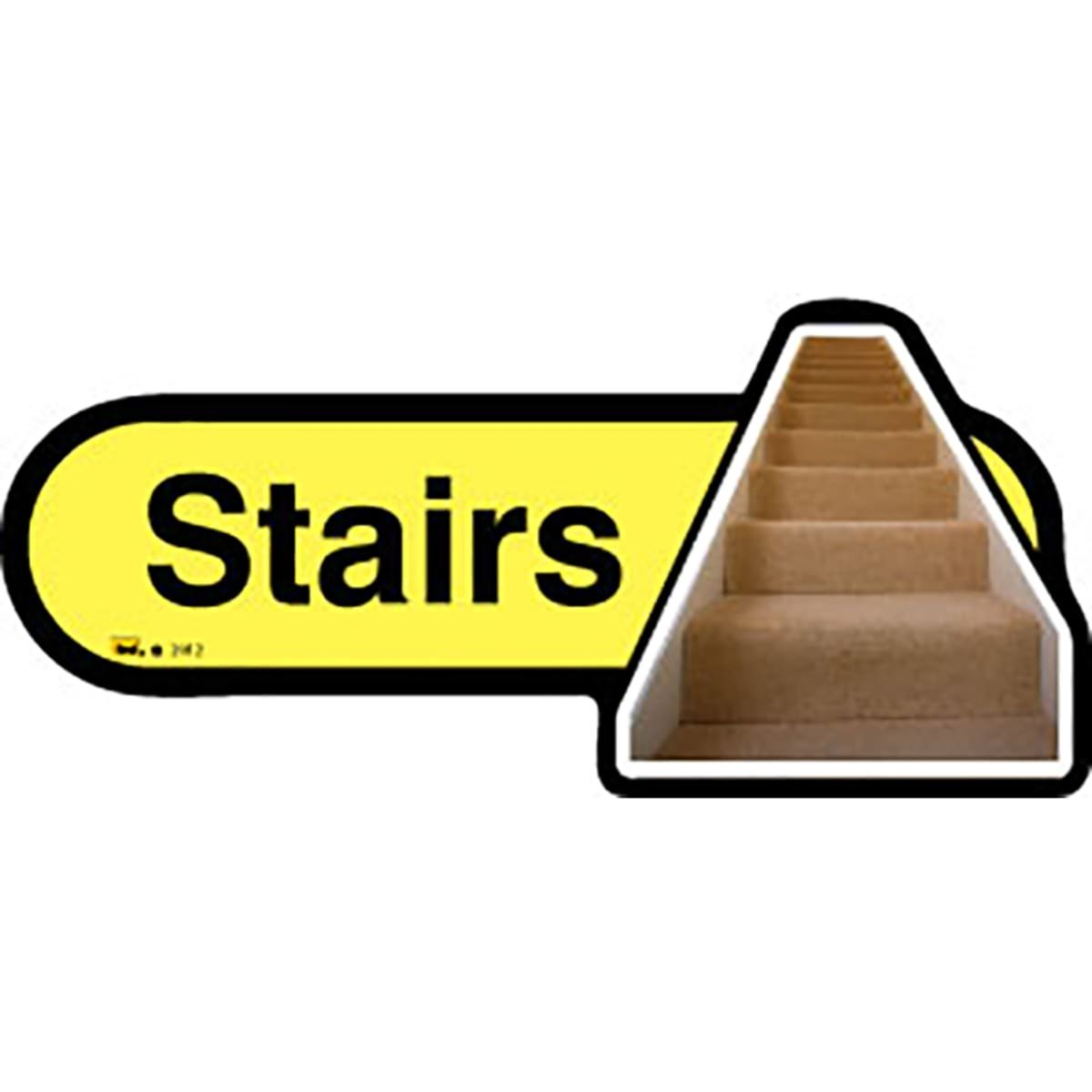 Dementia Friendly Stairs - Yellow Sign -480mm Wide by Dementia Friendly