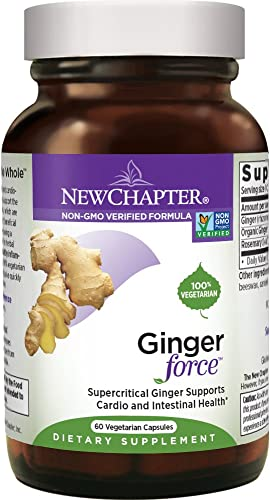 New Chapter Ginger Supplement – Ginger Force with Supercritical Organic Ginger Non-GMO Ingredients – 60 ct Vegetarian Capsules