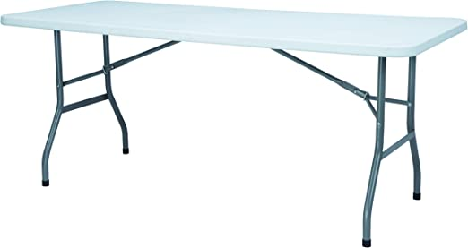 chiner - Mesa Plegable Blanca (183 x 75 cm.): Amazon.es: Jardín