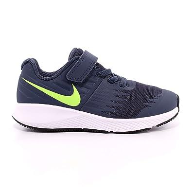 Nike Unisex-Kinder Star Runner (TDV) Traillaufschuhe, Schwarz (Black/White/Volt 001), 26 EU