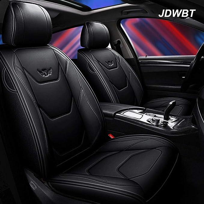 Autositzbezüge Leder Kunstleder Sitzbezug Auto Vordersitze Hinten 5 Sitz Voll Set Universal Pad Seat Protectors Farbe Schwarz Auto