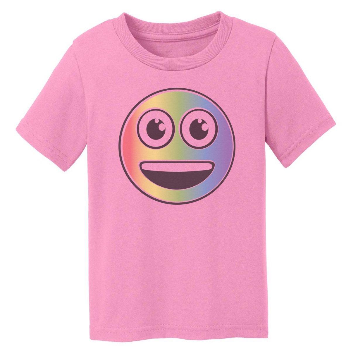 Digital T-Shirt Shop Baby-boys Rainbow Happy Emoji