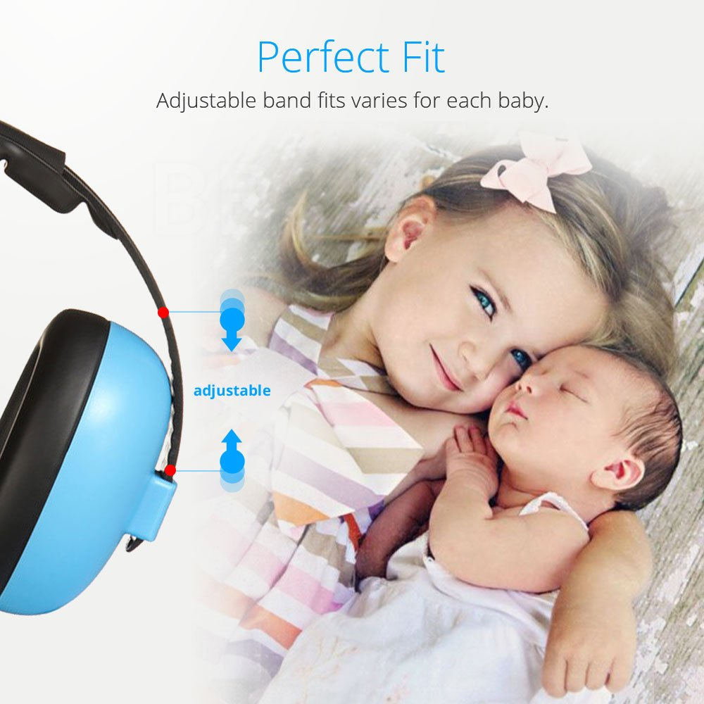 Baby Noise Cancelling Headphones, Baby Earmuffs, Baby Headphones, Baby Ear Protection, Baby Headphones Noise Reduction, Blue by JOINT STARS