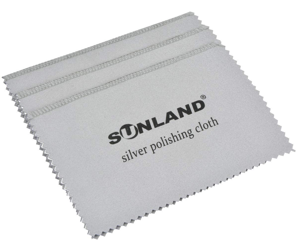 Sunland Set of 3 Premium Microfiber Jewelry Polishing Cloth - Best for Cleaning Silver, Gold and Platinum Jewelry