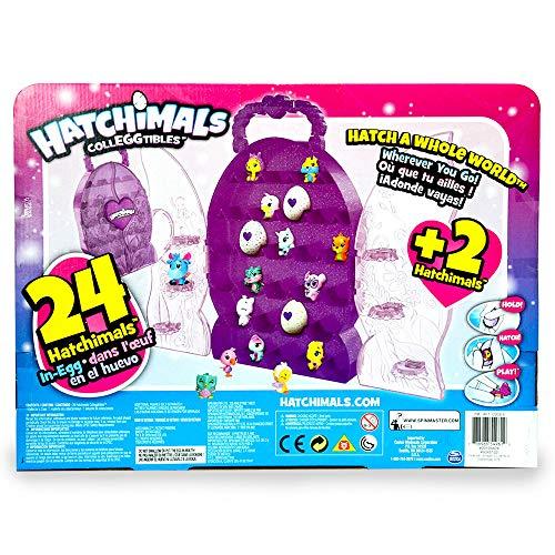 Hatchimals CollEggtibles Glittery Purple Collector Case with 26 Eggs