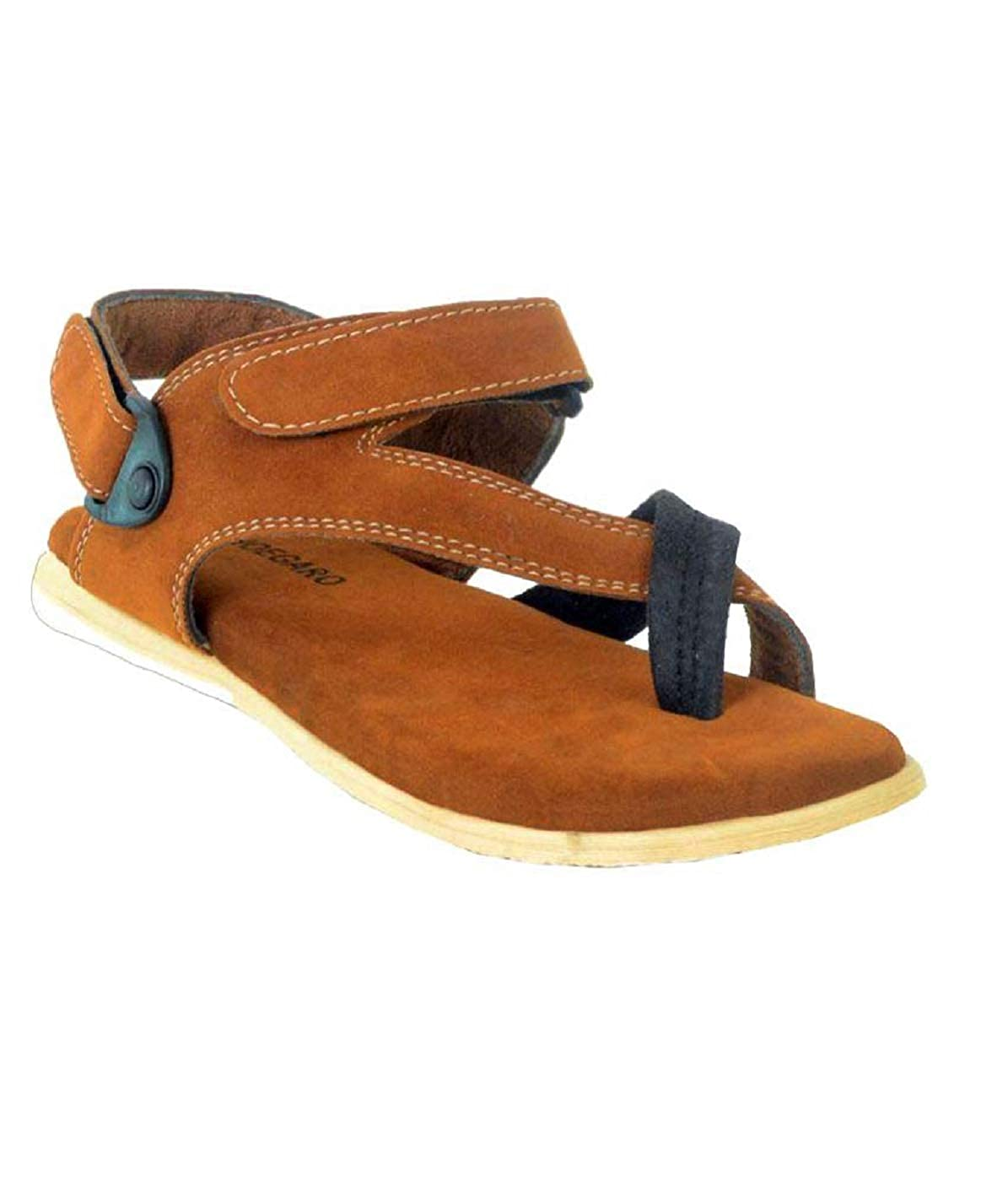 44f03ceae969 Shoegaro Tan Suede Casual Sandals Men  Buy Online at Low Prices in India -  Amazon.in