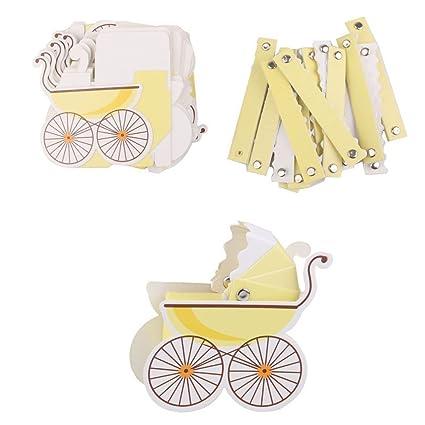 Jooks bebé Ducha favorece Carrito Forma Papel Candy Dulces Cajas de ...