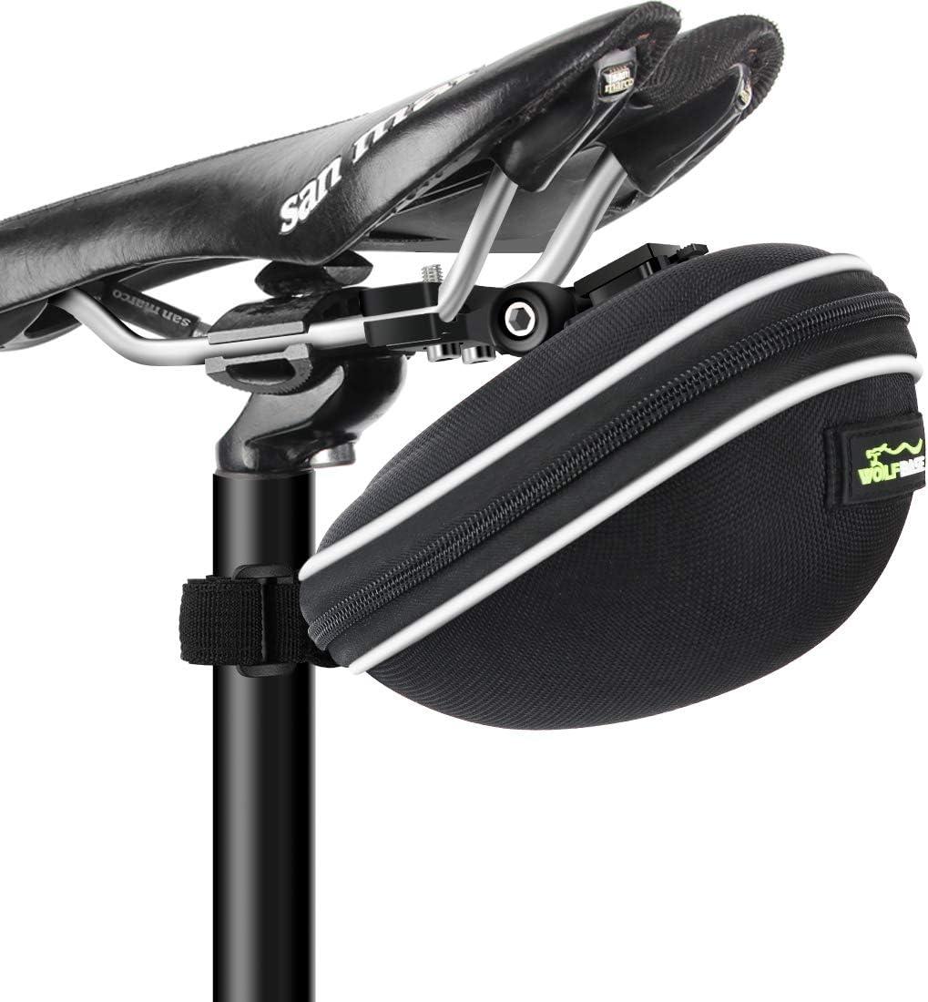 LAMA per sella da bicicletta 1 l Confezione da sella ovale con cinghia a cuneo