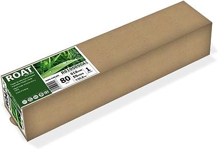 ROAT R6105050A1 – Rollo de papel inkjet de 80 gr, 610 mm x 50 mtrs, extra blanco, para todo tipo de plotters, 1 ud/caja: Amazon.es: Oficina y papelería