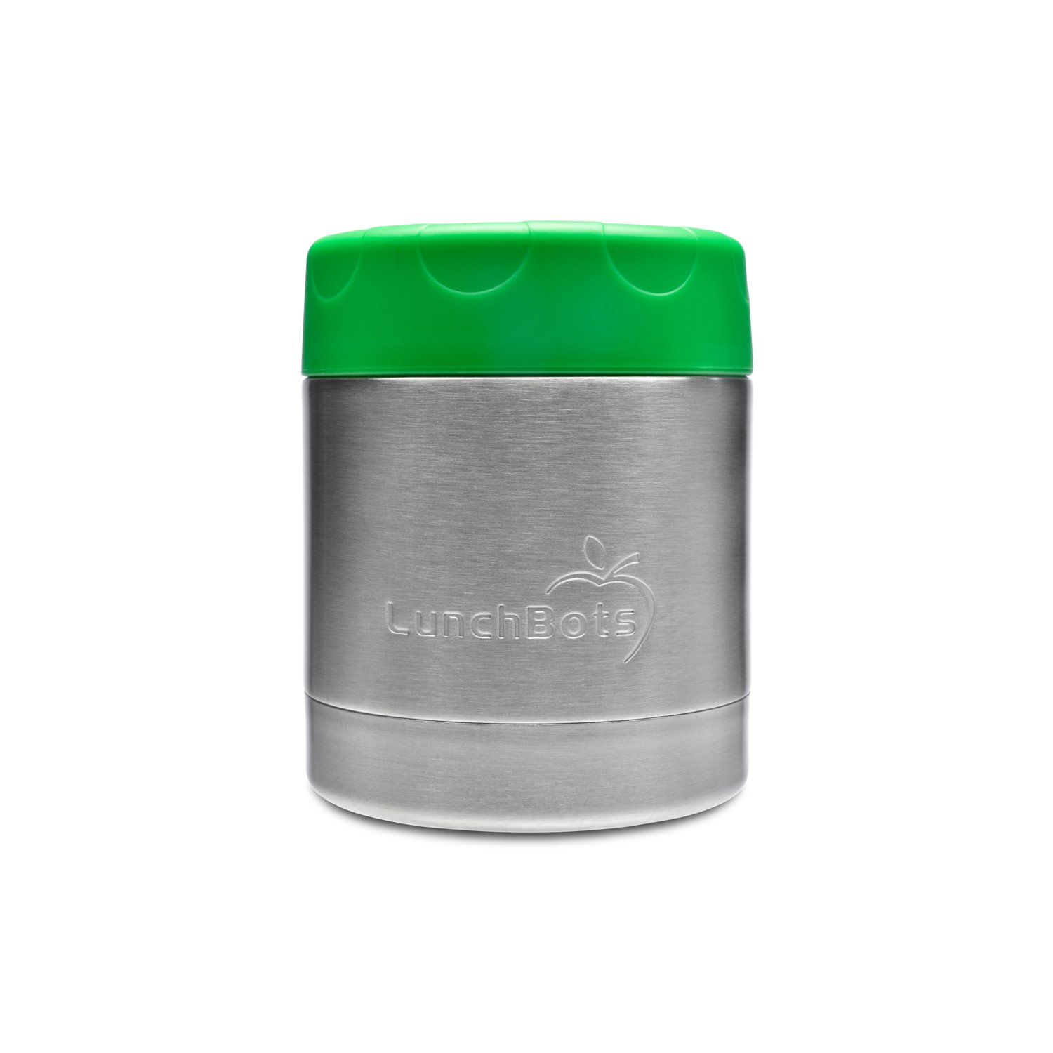 LunchBots Thermal 8 oz Triple Insulated Food Container - Hot 6 Hours or Cold 12 Hours - Leak Proof Thermos Soup Jar - All Stainless Interior - Green
