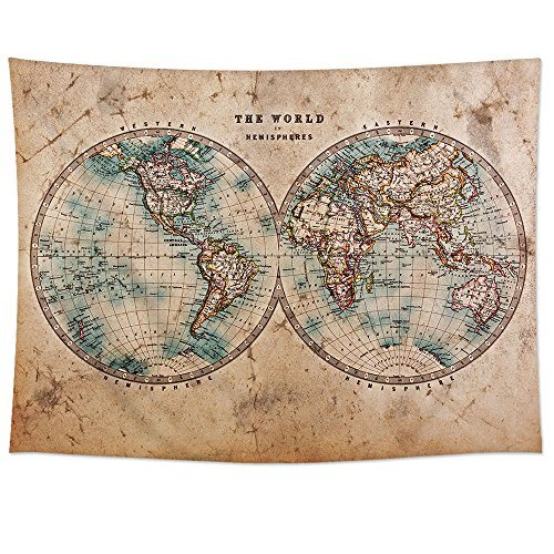 Uphome Antique World Tapestry Hanging