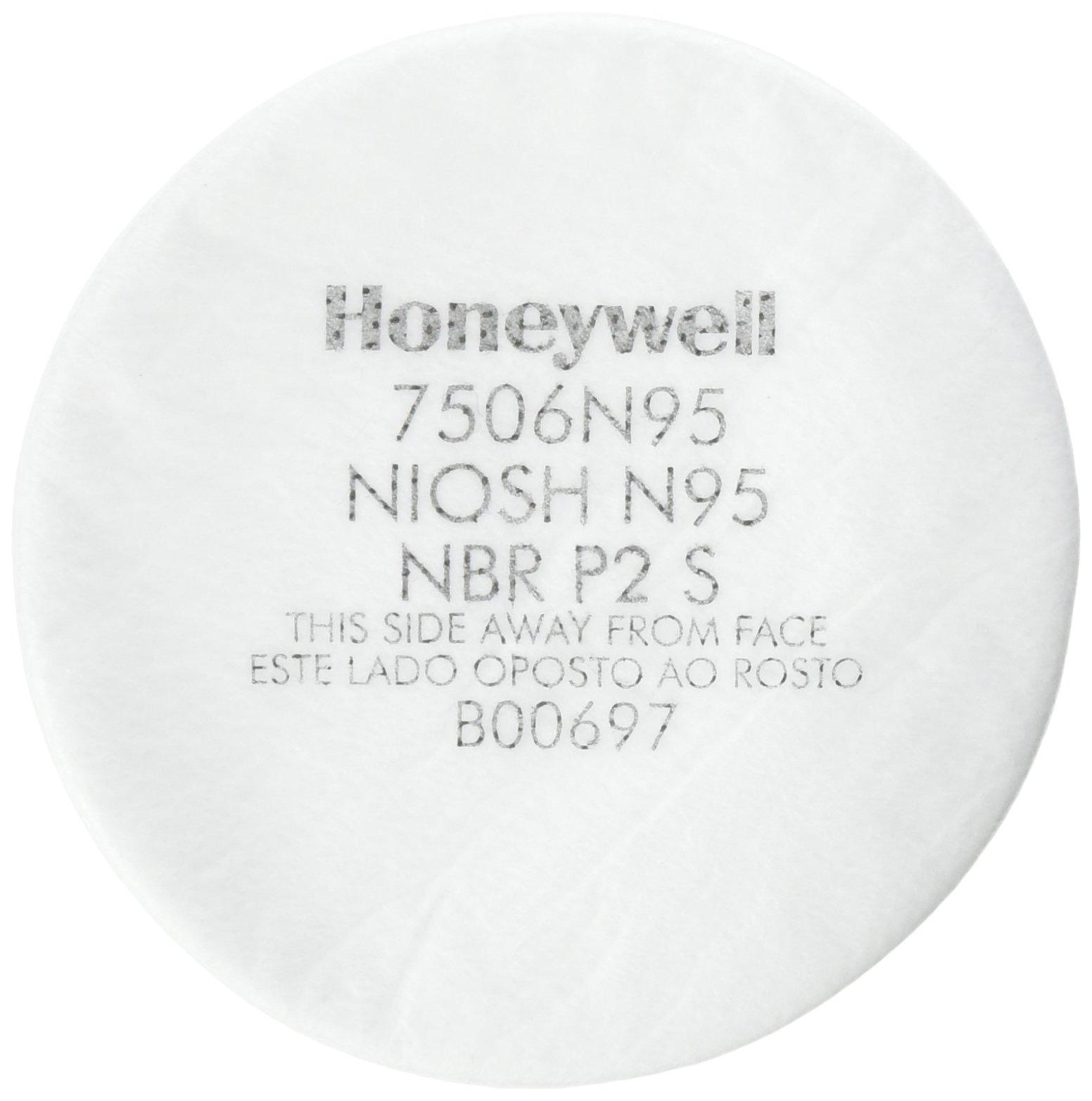 HONEYWELL 7506N95 Respiratory Protection Filter - North N95 NIOSH Prefilter {10 Pack}