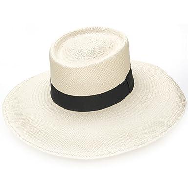 e74f5523220 Amazon.com  Gamboa Genuine Panama Hat Gambler - Wide Brim Straw Hat ...