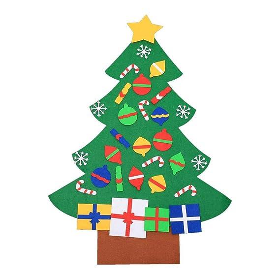 Amazon Com Kids Diy Christmas Tree Non Woven Home Door Wall Hanging